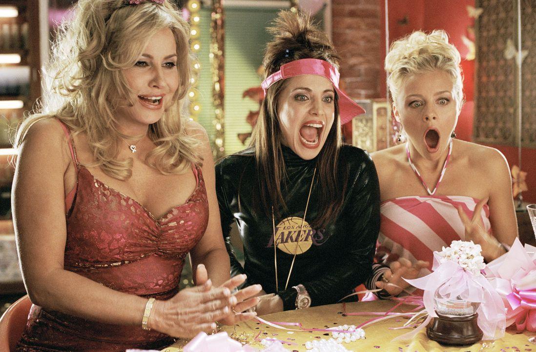 Um ihren Gesetzesvorschlag auf den Weg zu bringen, braucht Elle die Hilfe der Delta-Nu-Verbindungsschwestern Margot (Jessica Cauffiel,r.) und Serena... - Bildquelle: Metro-Goldwyn-Mayer (MGM)
