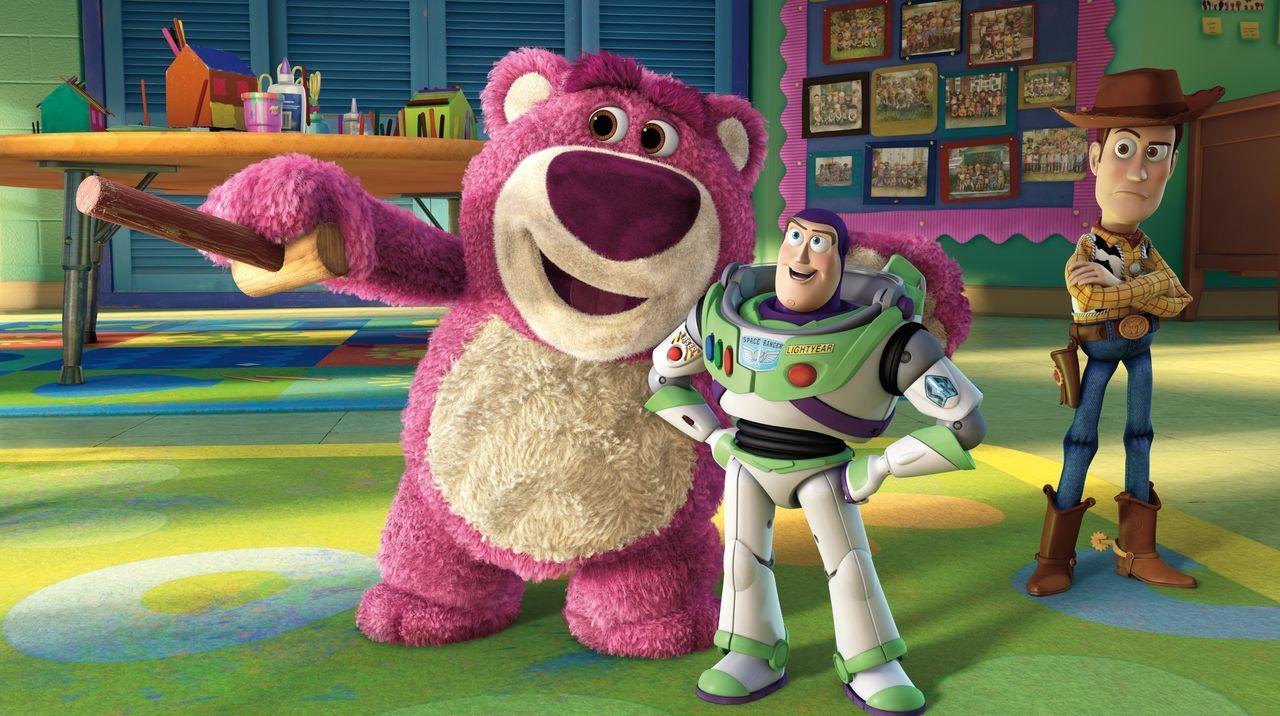 (v.l.n.r.) Lotso; Buzz Lightyear; Sheriff Woody - Bildquelle: Disney/Pixar