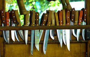 Um Teichpflanzen wie Schilf oder Winterschachtelhalm zu schneiden, brauchen S...