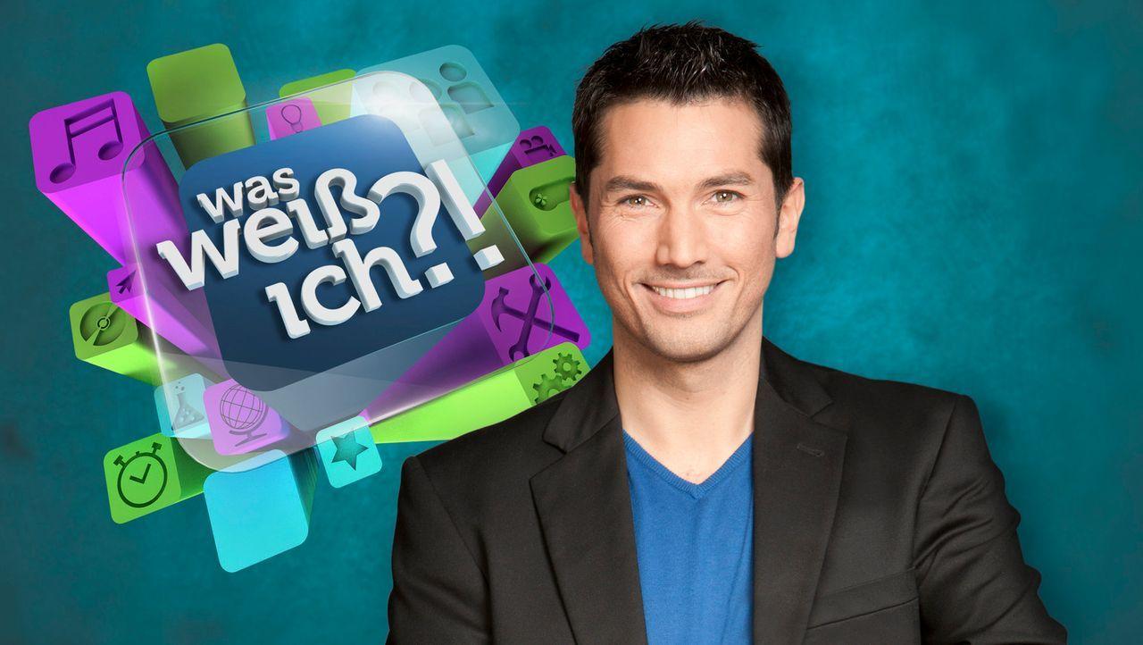 """Stefan Gödde moderiert die Quizshow """"Was weiß ich?!"""" - Bildquelle: Holger Rauner SAT.1"""