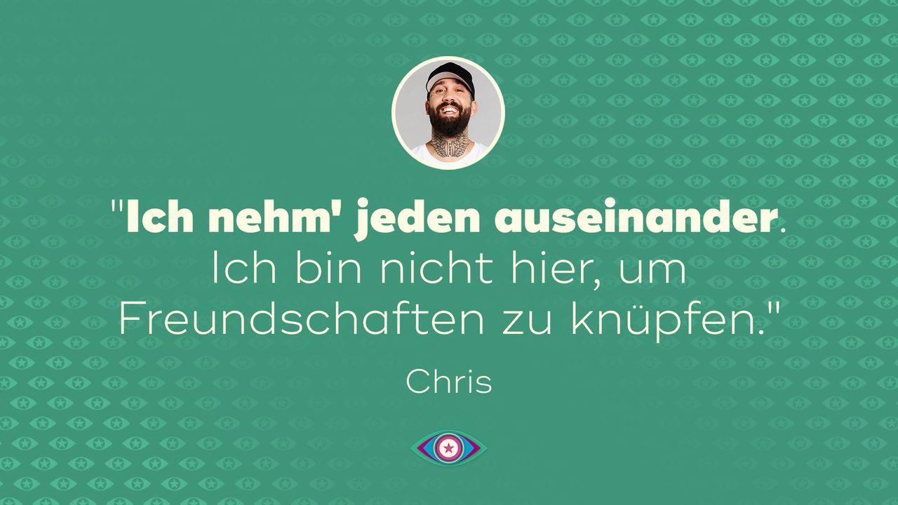Tag 1: Chris - auseinander - Bildquelle: SAT.1