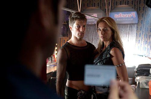 Beate Kampmann (Caroline Beil) ist die resolute Chefin des Strippclubs, in dem Frank arbeitete. Rene (Mickey Hardt) hätte Grund gehabt, seinen beli... - Bildquelle: Martin Rottenkolber - Sat1