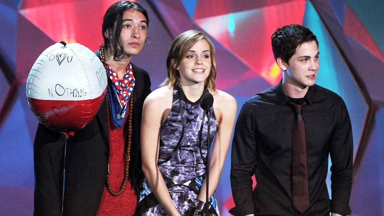 mtv-movie-awards-Ezra-Miller-Emma-Watson-Logan-Lerman-12-06-03-getty-AFP - Bildquelle: getty-AFP
