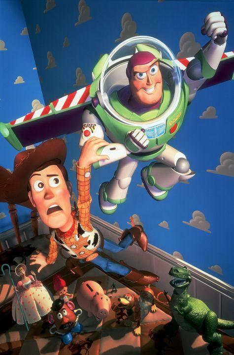 Trotzen zahlreichen Gefahren in der großen, weiten Welt: Cowboy-Puppe Woody (l.) und Astronauten- Action-Puppe Buzz Lightyear (r.) ... - Bildquelle: Disney/PIXAR