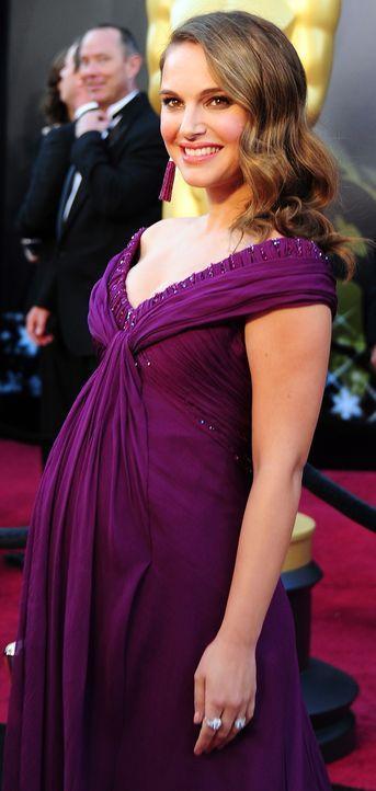Die schwangere Natalie Portman - Bildquelle: +++(c) dpa - Bildfunk+++ Verwendung nur in Deutschland