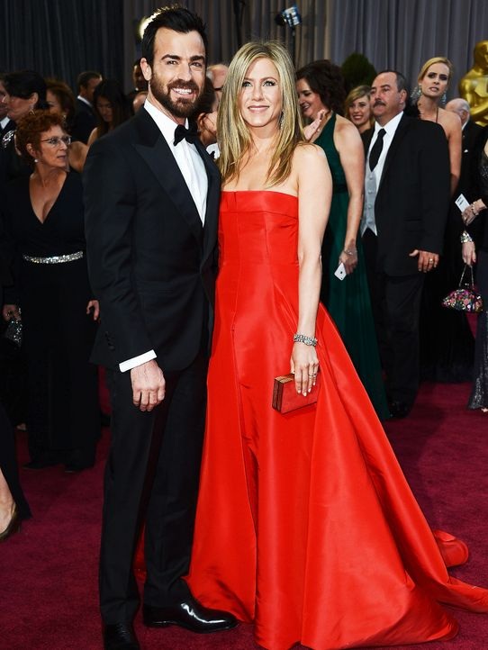 Oscars-Roter-Teppich-130224-Justin-Theroux-Jennifer-Aniston-AFP - Bildquelle: getty-AFP