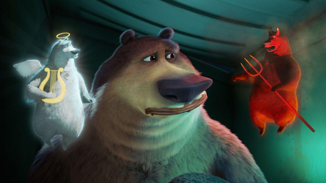 Engelchen und Teufelchen schwirren dem armen Boog um den Kopf und lassen ihn ratlos zurück. Gut, dass es Freunde gibt, die einem in so einem Moment... - Bildquelle: 2010 Sony Pictures Animation Inc. All Rights Reserved.