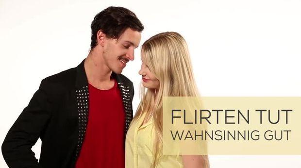 Frau flirtet nicht