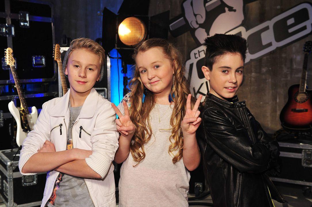 The-Voice-Kids-Stf02-Epi07-Vanessa-Joel-Leif-11-SAT1-Andre-Kowalski - Bildquelle: SAT.1/Andre Kowalski