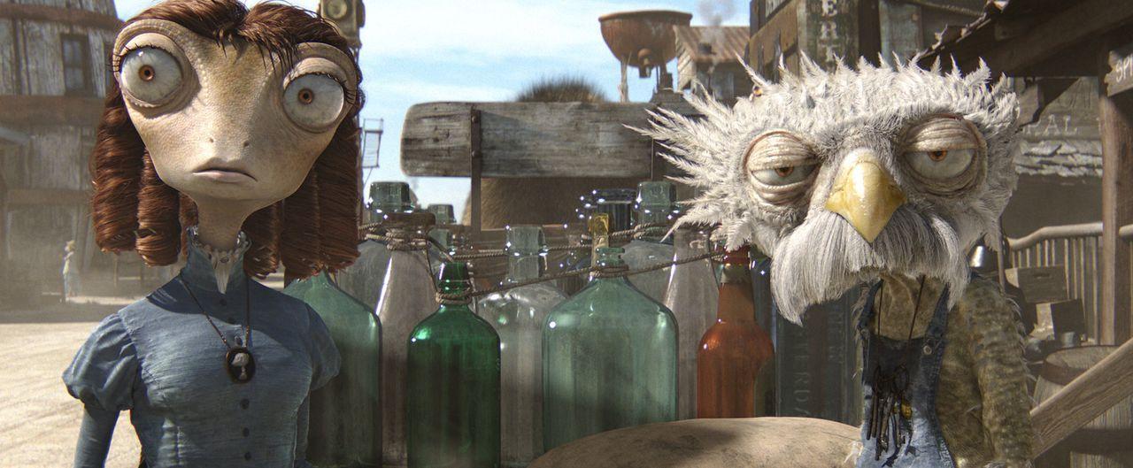 """In der Wüste ist das wichtigste Währungsmittel """"Wasser"""" und Bohne (l.) braucht dringend einen Kredit oder aber einen Zahlungsaufschub von Furgus (... - Bildquelle: Paramount Pictures. All rights reserved."""