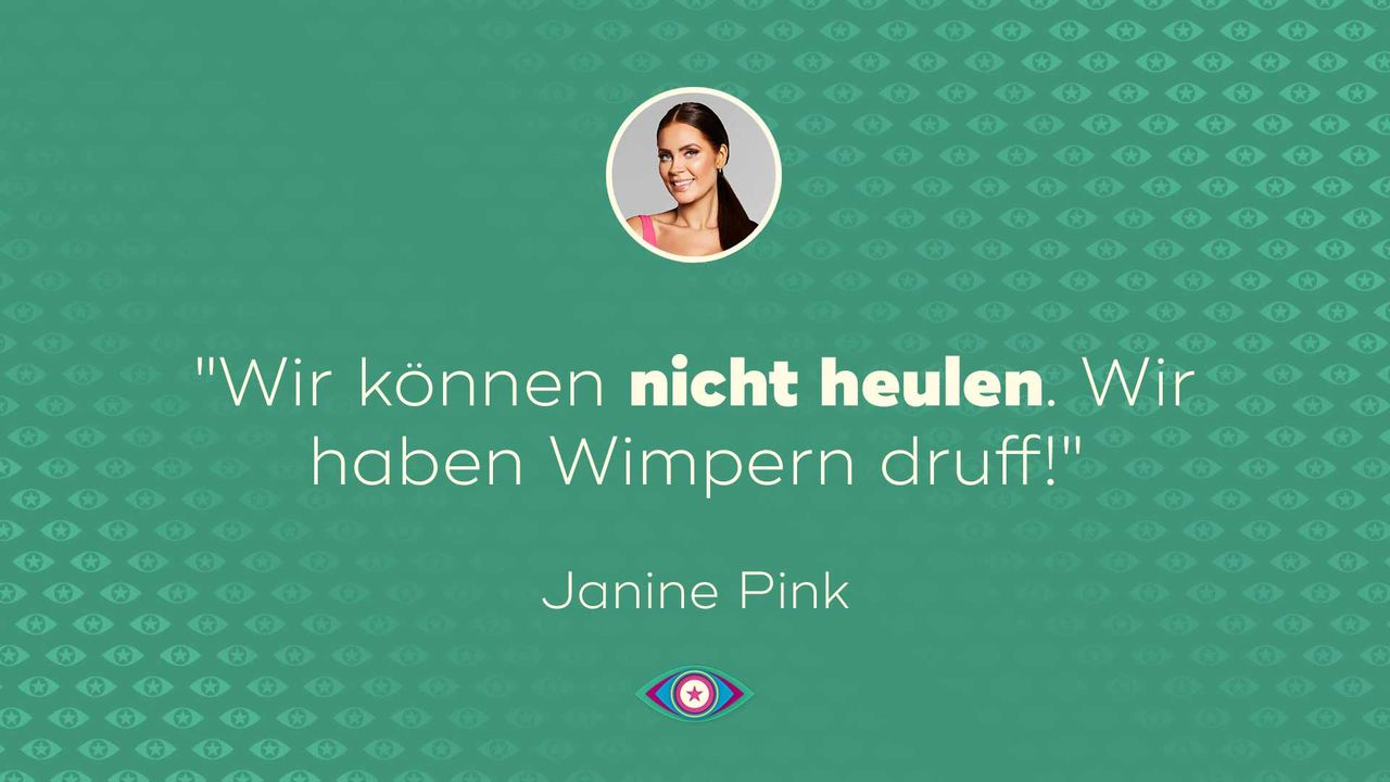Promi Big Brother 2019: Tag 14 Janine Wimpern
