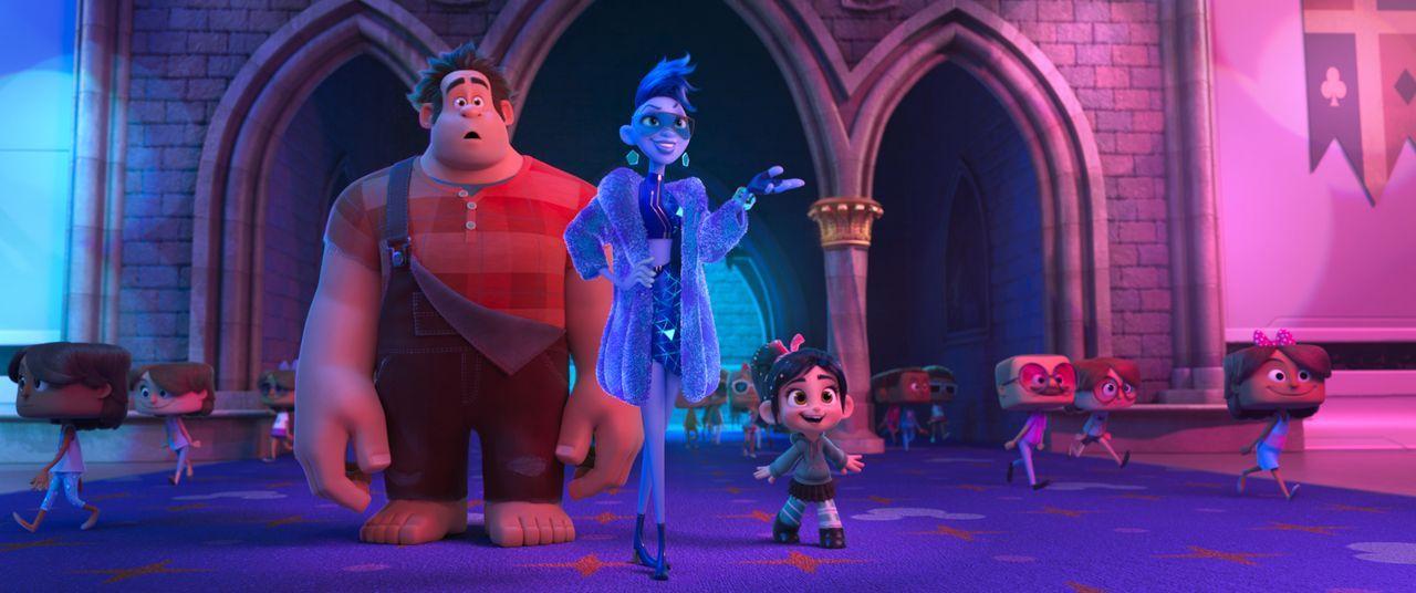 (v.l.n.r.) Ralph; Yesss; Vanellope - Bildquelle: 2018 Disney. All Rights Reserved.