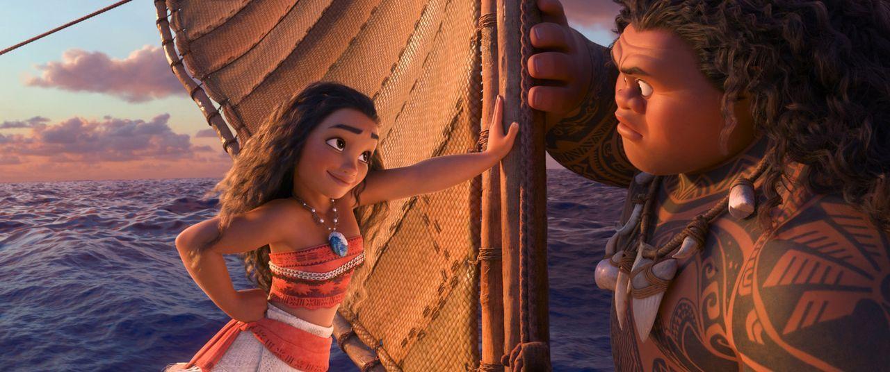 Vaiana (l.); Maui (r.) - Bildquelle: Disney Enterprises, Inc.