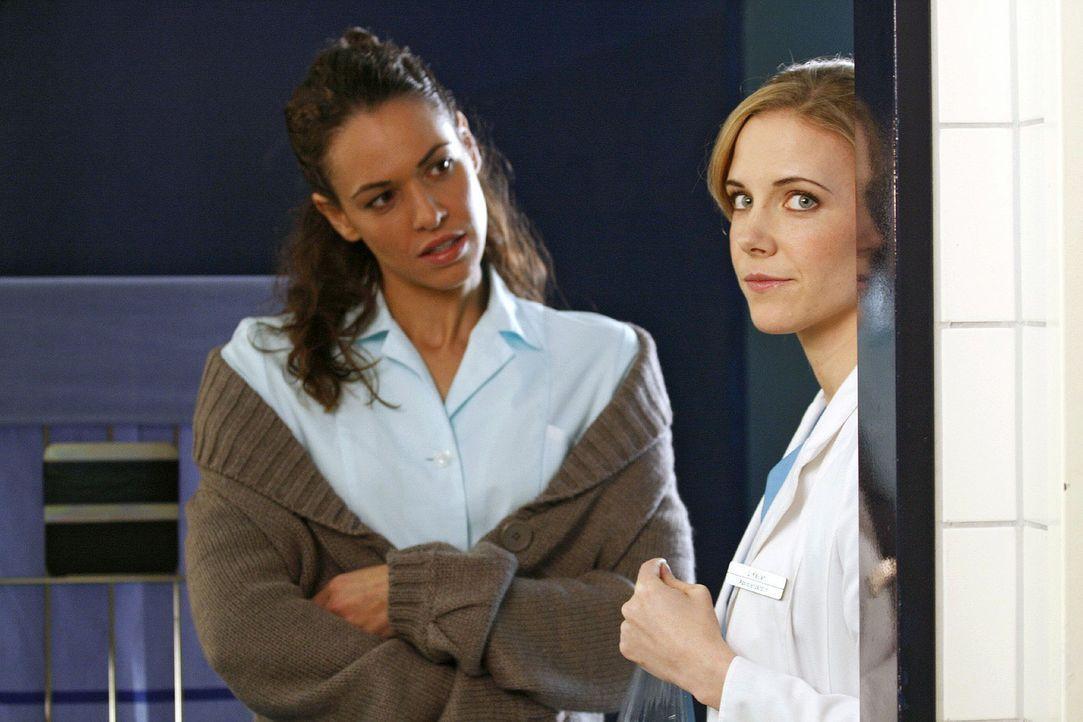 Luisa (Jana Voosen, r.) und Anna (Nadine Brandt, l.) kommen sich wieder näher. - Bildquelle: Noreen Flynn Sat.1