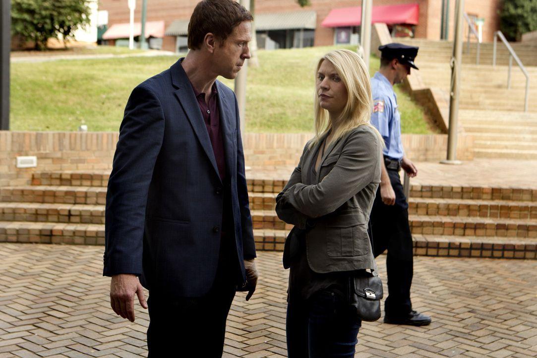 Aus Angst vor einem drohenden Terrorangriff besucht Saul Aileen im Staatsgefängnis, um sie zu befragen. Währenddessen drängt Carrie (Claire Danes... - Bildquelle: 20th Century Fox International Television