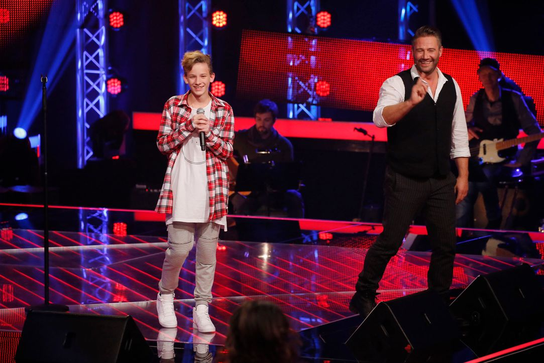 The-Voice-Kids-s04e02-Robin-1-SAT1-Richard-Huebner - Bildquelle: © SAT.1/ Richard Hübner