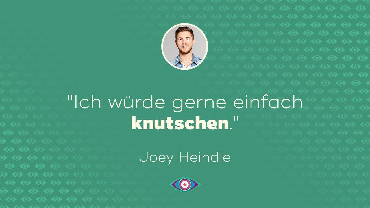 Joey Heindle - Spruch - Ich will knutschen - Bildquelle: SAT.1