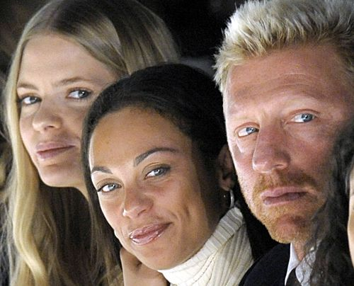 Boris Becker, Lilly Kerssenberg und Top-Model Julia Stegner bei der Fashion Week 2009 in Berlin. - Bildquelle: dpa