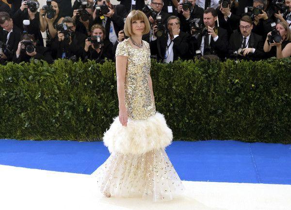 Bild: dpaUnd so kam die Gastgeberin des Abends: Vogue-Chefin Anna Wintour&nb...