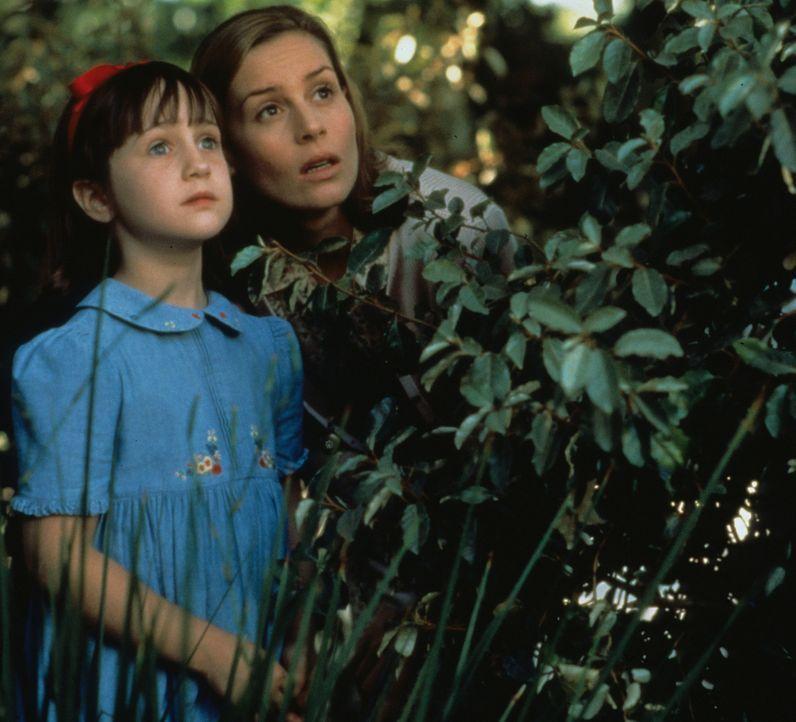 Gemeinsam mit ihrer liebevollen Klassenlehrerin Fräulein Honig (Embeth Davidtz, r.) setzt sich Matilda (Mara Wilson, l.) mit ihren besonderen Fähi... - Bildquelle: Columbia TriStar