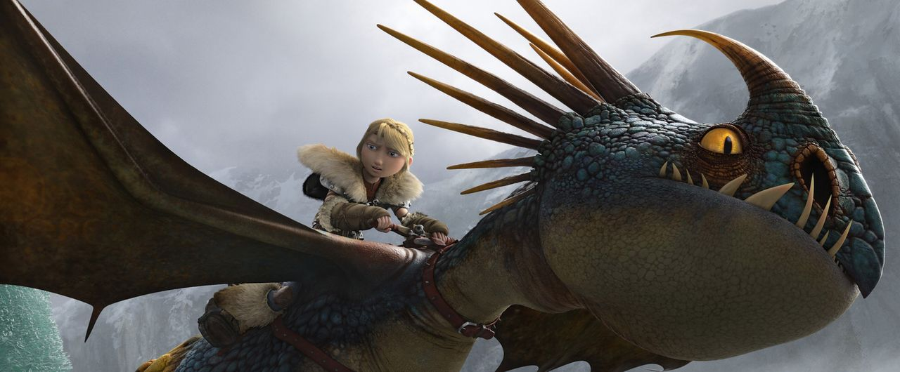 Als Hicks bei einer seiner Erkundungstouren mit seinem Drachen Ohnezahn zufällig herausfindet, dass ein böser Wikinger namens Drago Blutfaust eine D... - Bildquelle: 2014 DreamWorks Animation, L.L.C.  All rights reserved.