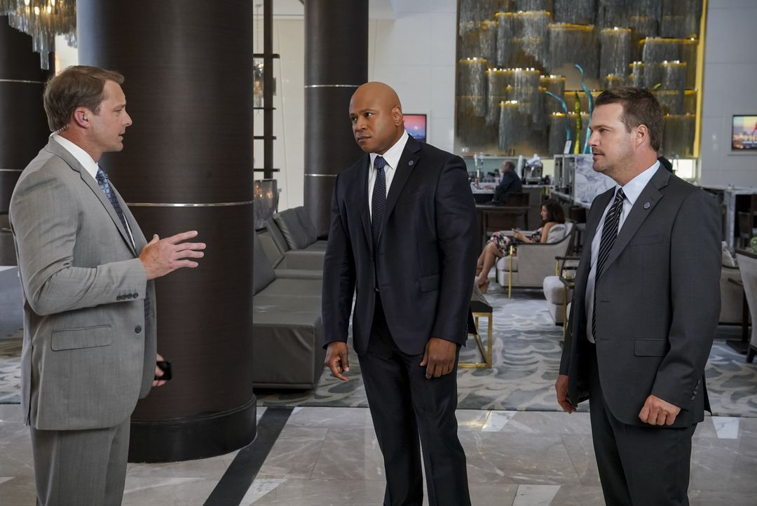 (v.l.n.r.) Brian Bush (Drew Waters); Sam Hanna (LL Cool J); G. Callen (Chris O'Donnell) - Bildquelle: Monty Brinton 2018 CBS Bradcasting, Inc. All Rights Reserved./ Monty Brinton