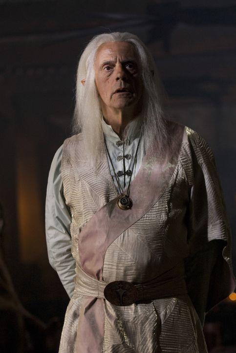 Der gute Zauberer Tesselink (Christopher Lloyd) wird von einem Orakel vor den hinterlistigen Machenschaften Dragon Eyes gewarnt ... - Bildquelle: 2008 Dragonsteel Films Inc.