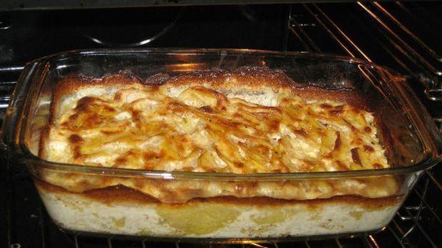 Kartoffeln für Kartoffelgratin
