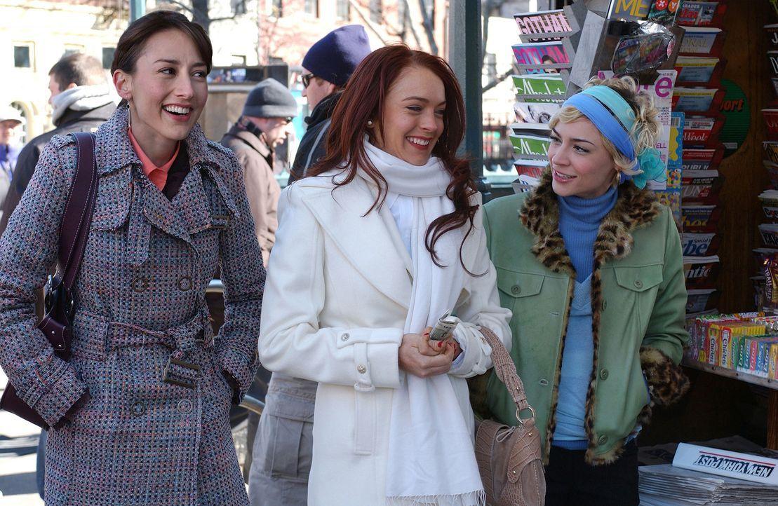 Ashley (Lindsay Lohan, M.) ist jung, schön, sexy und hat einen Super-Job in der Medienbranche. Kein Wunder, denn bei ihren Freundinnen (v.l.n.r.: B... - Bildquelle: Epsilon Motion Pictures GmbH