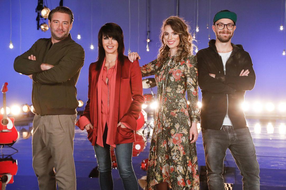 """""""The Voice Kids"""" geht in die nächste Runde: (v.l.n.r.) Sasha, Nena, Larissa und Mark Forster ... - Bildquelle: Andre Kowalski SAT.1"""