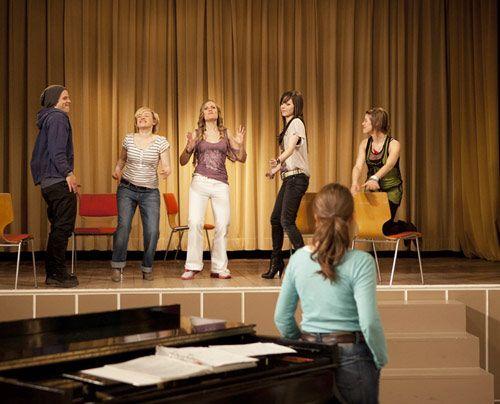Sie STAG studiert einen neuen Song ein. - Bildquelle: David Saretzki - Sat1