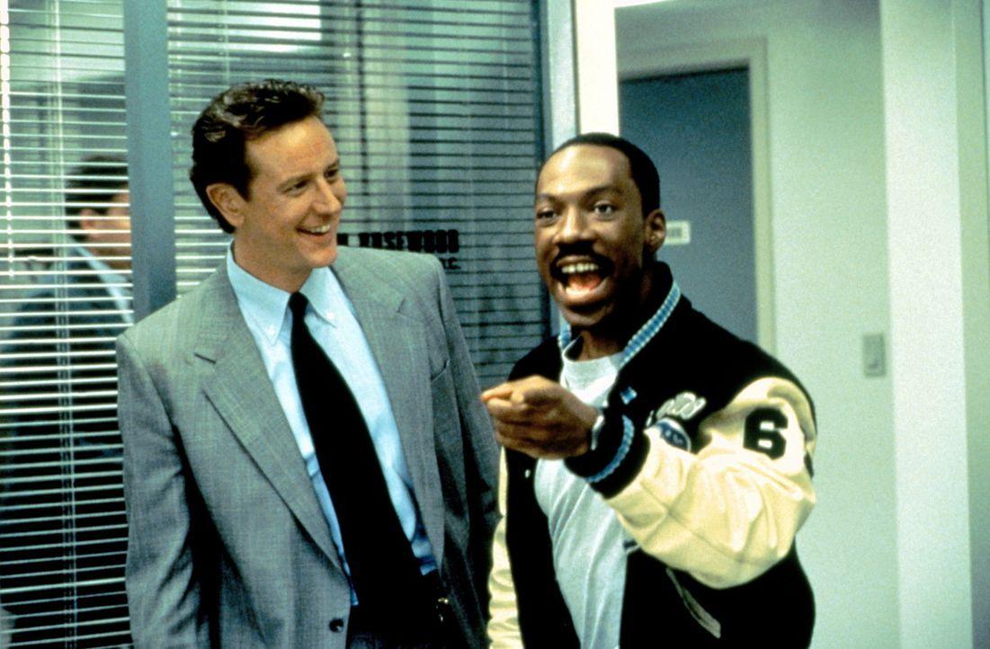 Mit seiner vorlauten Klappe tritt Axel (Eddie Murphy, r.) auch seinen Vorgesetzten und seinen Kollegen in Beverly Hills auf die Füße. Zusammen mit... - Bildquelle: Paramount Pictures