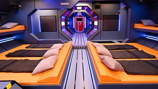 Das Bettenlager der Raumstation.