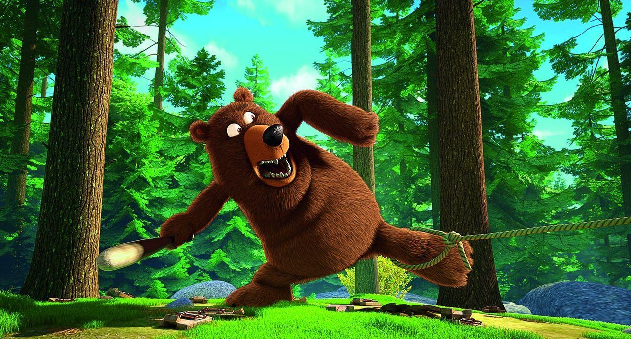 Der mächtige Bär (Bild) ist größer als der Keinohrhase und das Zweiohrküken zusammen. Können die beiden Freunde dem starken Bären trotzdem die Stirn... - Bildquelle: Warner Brothers