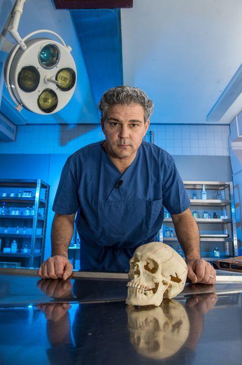 Der Tod eines Menschen wirft häufig Fragen auf:  Prof. Dr. Michael Tsokos und seine Kollegen gehen dem Tod auf die Spur ... - Bildquelle: Andre Kowalski SAT.1