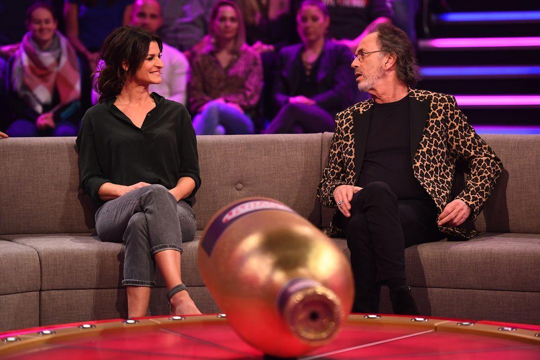 Marlene Lufen (l.); Hugo Egon Balder (r.) - Bildquelle: Willi Weber SAT.1