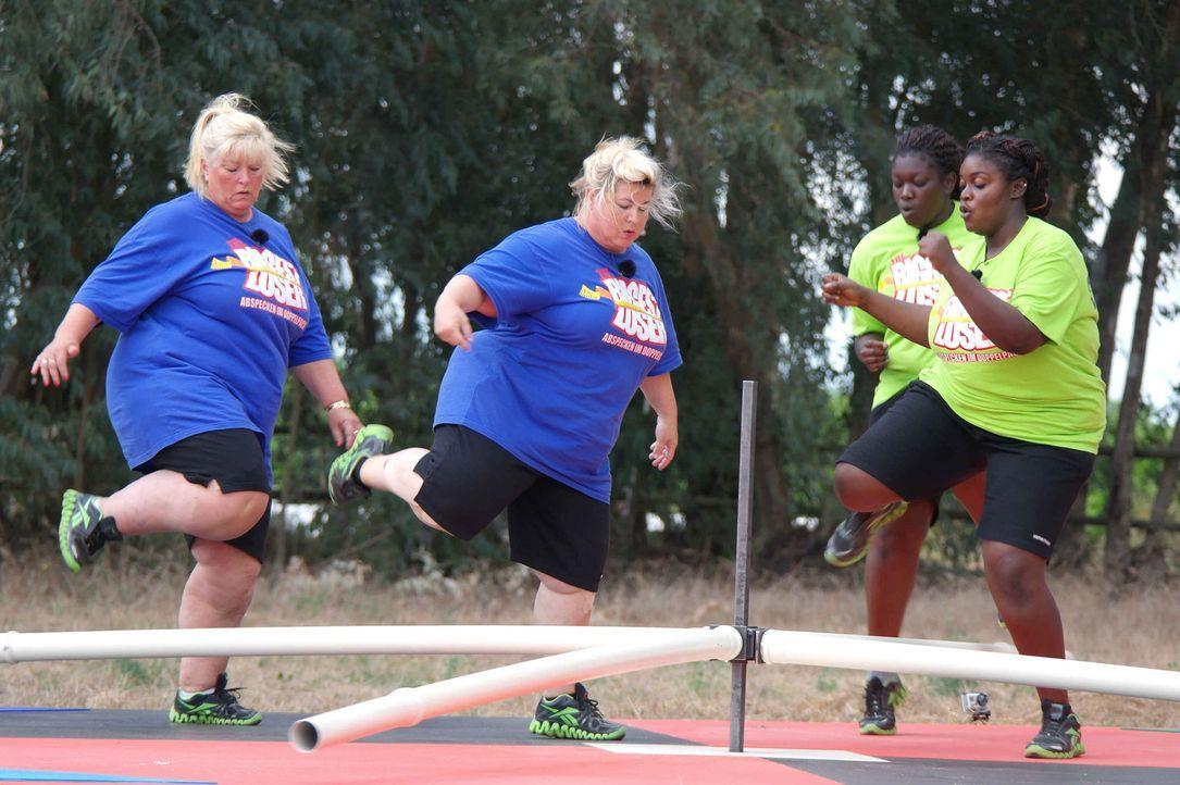 Bei den Wettkämpfen werden die Kandidaten zu Höchstleistungen angespornt. Um Gewicht abzunehmen, müssen sie jede Woche eine neue Aufgabe meistern... - Bildquelle: SAT.1