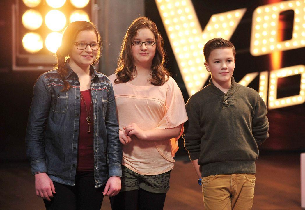 The-Voice-Kids-Stf02-Epi06-Patrizia-Helena-Simon-101-SAT1-Andre-Kowalski - Bildquelle: SAT.1/Andre Kowalski
