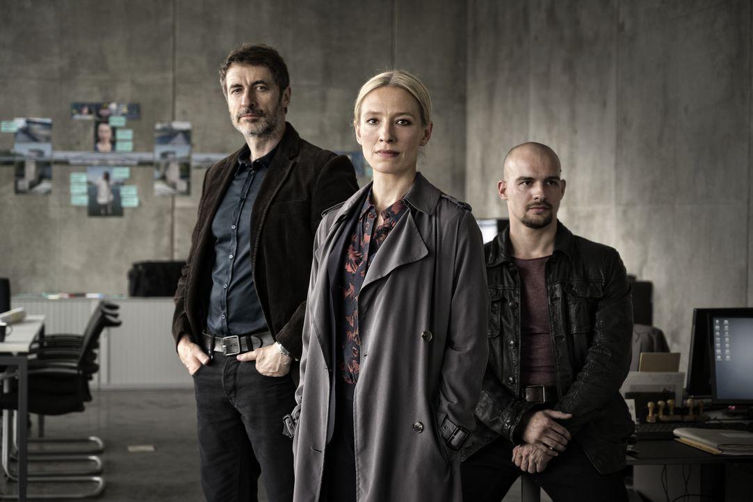 (v.l.n.r.) Markus Schulz (Guido Broscheit); Julia Durant (Sandra Borgmann); Felix Dombrowski (Eric Stehfest) - Bildquelle: Christian Lüdeke SAT.1 / Christian Lüdeke