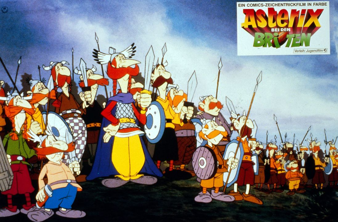 Mit dem magischen Zaubertrank der Gallier gestärkt treten die britischen Rebellen ihren römischen Widersachern entgegen. - Bildquelle: Jugendfilm-Verleih GmbH