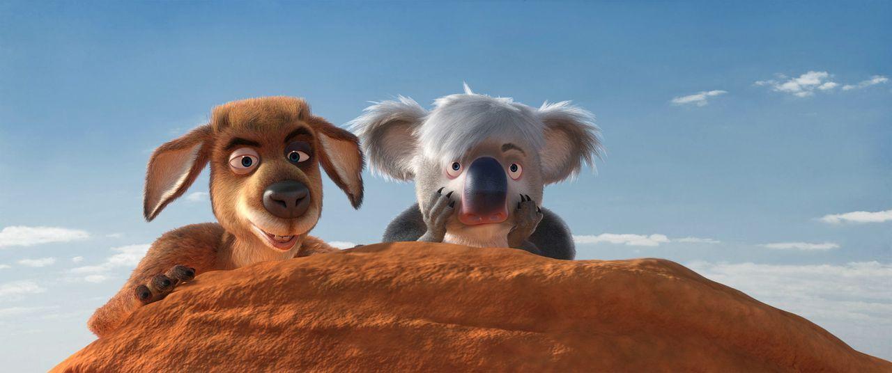 So ganz sind sich Toby (l.) und Ken (r.) noch nicht sicher, ob ihre Umsiedlung die richtige Entscheidung war ... - Bildquelle: Constantin Film Verleih GmbH