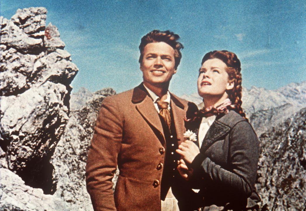 Das Glück des liebenden Paares Kaiser Franz-Joseph (Karlheinz Böhm, r.) und seiner Frau, der hübschen Sissi (Romy Schneider, l.), könnte vollkommen... - Bildquelle: Herzog-Filmverleih