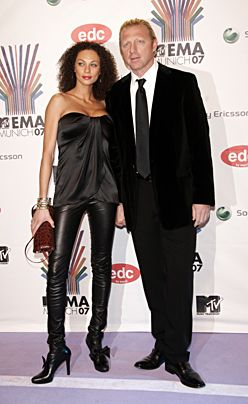 Boris Becker und Sharlely Lilly Kerssenberg in München bei der Verleihung der MTV Europe Music Awards im November 2007. - Bildquelle: dpa