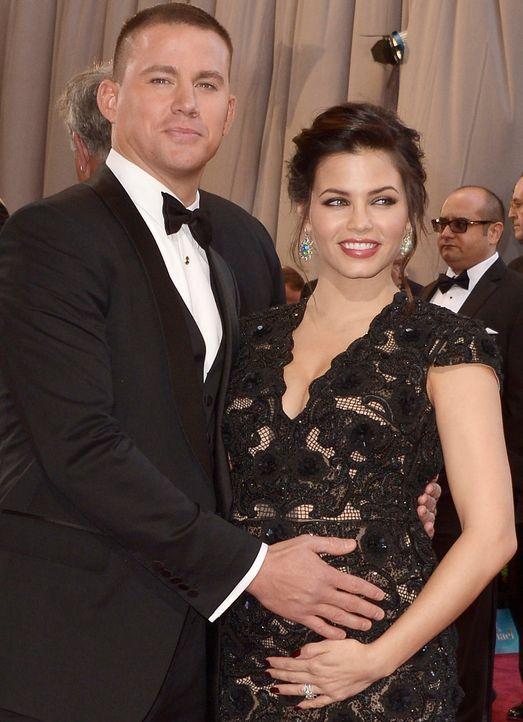 die schwangere Jenna Dewan-Tatum mit Ehemann Channing - Bildquelle: +++(c) dpa - Bildfunk+++ Verwendung nur in Deutschland