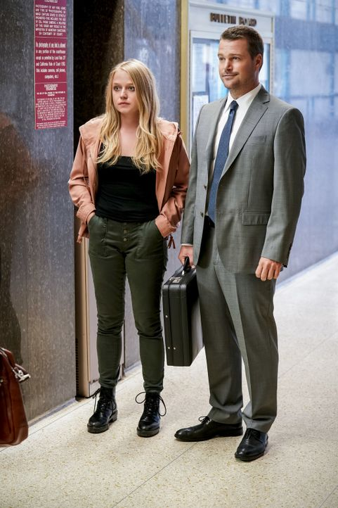 (v.l.n.r.) Tiffany Williams (Paulina Olszynski); G. Callen (Chris O'Donnell) - Bildquelle: Erik Voake 2018 CBS Bradcasting, Inc. All Rights Reserved./ Erik Voake