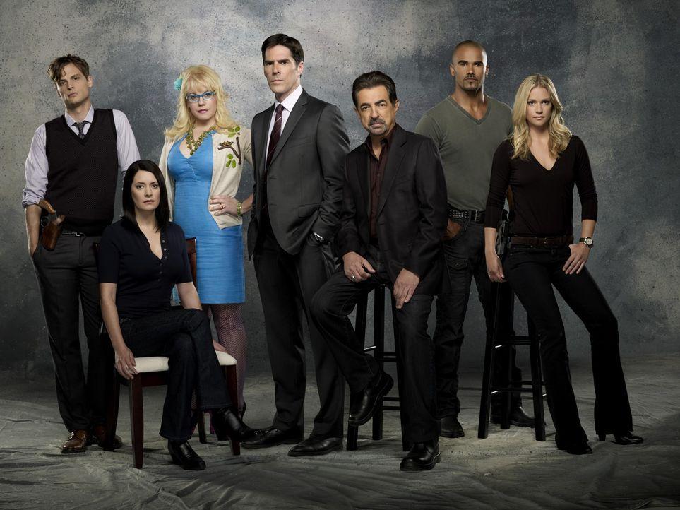 (7. Staffel) - Ein starkes Team, das jeden Serientäter zur Strecke bringt: Special Agent Dr. Spencer Reid (Matthew Gray Gubler, l.), Emily Prentiss... - Bildquelle: ABC Studios