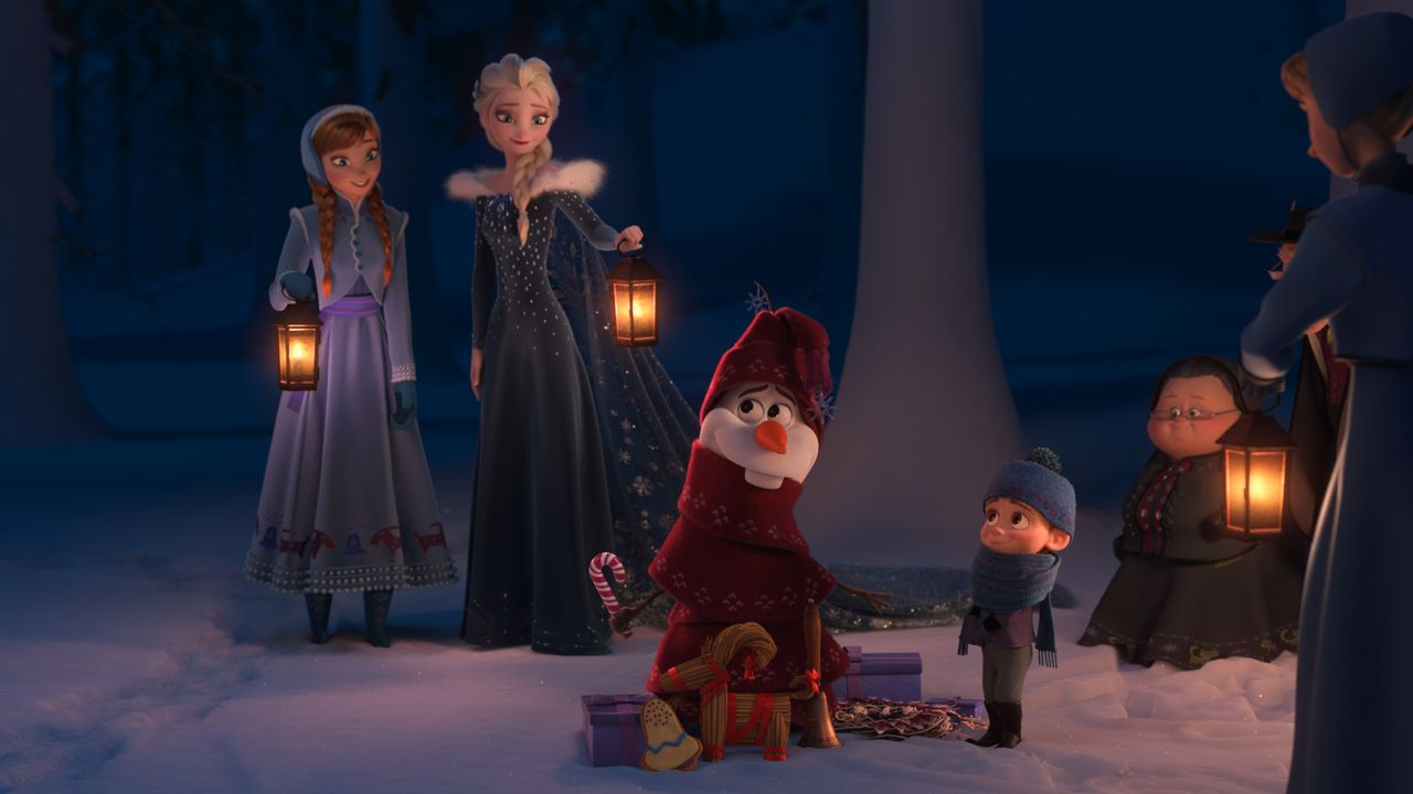 (v.l.n.r.) Anna; Elsa; Olaf - Bildquelle: Disney Enterprises, Inc.