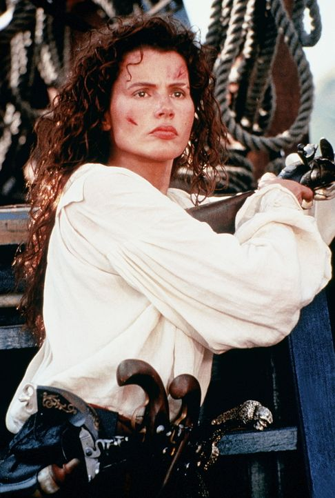 Die schöne Morgan (Geena Davis) flucht, säuft und ist rauflustig. Nach dem gewaltsamen Tod ihres Vaters erbt sie das Kommando seines Schiffes und... - Bildquelle: VCL Communications