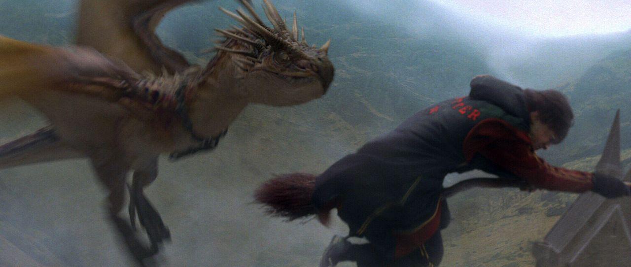 Obwohl er noch viel zu jung für das Turnier ist, stellt sich Harry (Daniel Radcliffe) dem lebensgefährlichen Turnier. Nicht ahnend, dass das Böse wi... - Bildquelle: 2005 Warner Bros. Ent. Harry Potter Publishing Rights. J.K.R.