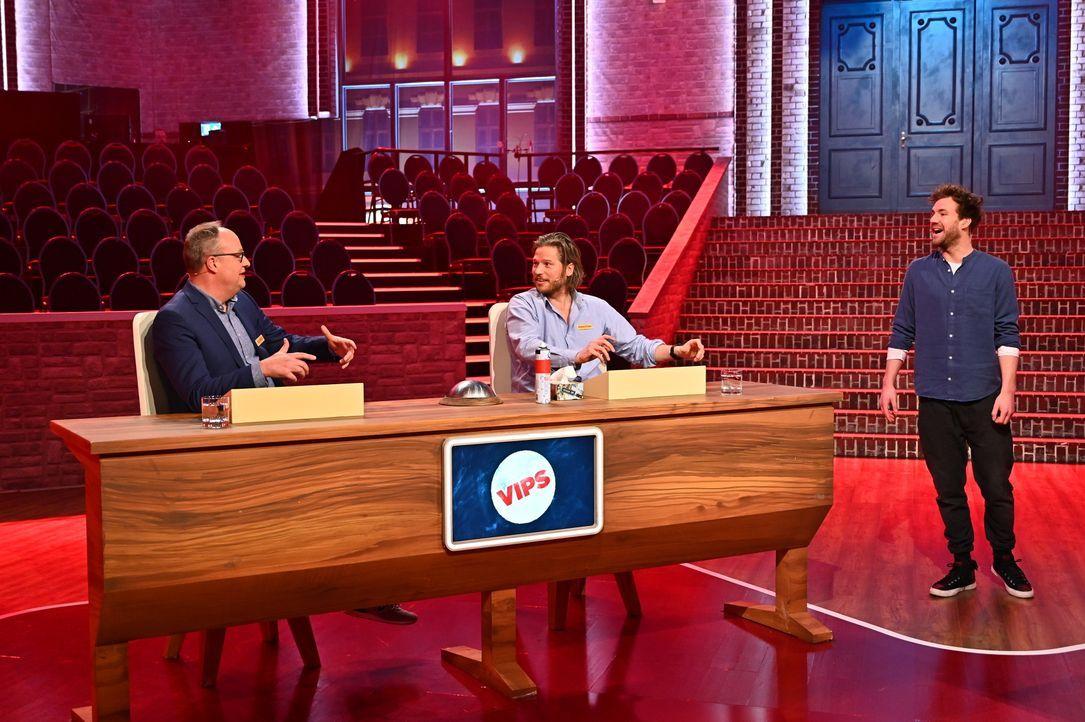 (v.l.n.r.) Oliver Welke; Sebastian Ströbel; Luke Mockridge - Bildquelle: Willi Weber SAT.1 / Willi Weber